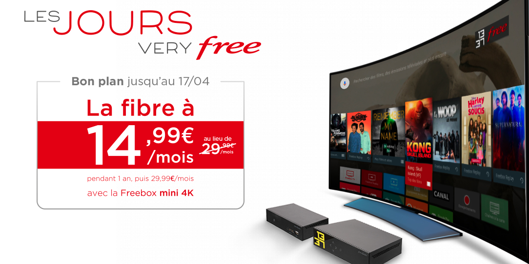 free prolonge les jours very free avec la freebox mini 4k petit prix les promos chez free. Black Bedroom Furniture Sets. Home Design Ideas